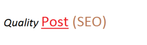How to write quality post on blog