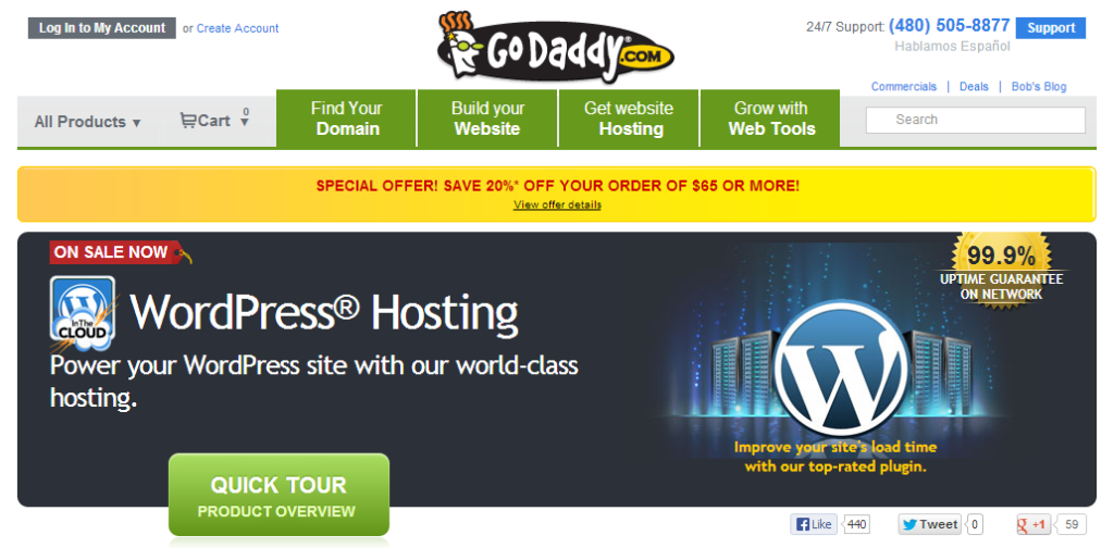 godaddy hosting server review
